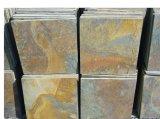 Pedra de pavimentação da telha oxidada natural da ardósia