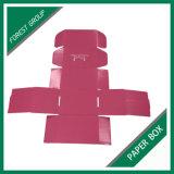 Cadre de empaquetage de papier rose pliable en gros fait sur commande (FORÊT BOURRANT 021)