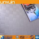 De veerkrachtige Tegel van de Vloer van pvc Metaal Zelfklevende Vinyl