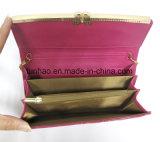 Brevet PU en cuir embrayage papillon en métal cadre décor femme chaîne sac