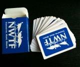 Cartes de jeu bleues de papier de Nwft/cartes de jeu de tisonnier avec 4 couleurs différentes