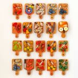 Magnete personalizzato del frigorifero della resina di figura della frutta per il regalo di promozione