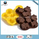 Оптовая прессформа силикона формы медведя для инструмента Si23 выпечки шоколада