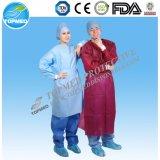 Wegwerf-pp./PET/PP+PE/SMS/CPE-nichtgewebtes chirurgisches Kleid
