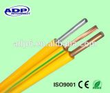 Alambre aislado aislante Bvr del PVC del conductor del alambre de la BV BVV Bvvr del cable eléctrico