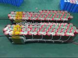 14s4p Hailong 리튬 건전지 52V 14ah 헥토리터는 Downtube Un38.3 증명서를 가진 건전지 팩 52V 상어 팩을 거치했다
