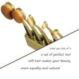 Gros balai cosmétique de Nana de brosse de lecture d'or de renivellement de Rose de partie de Fvie de qualité avec le balai de poudre de piédestal