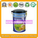 Kundenspezifischer Kaffee-Zinn-Kasten mit luftdichter Plastikkappe, Kaffee-Zinn mit Mechanismus, Metallblechdose, Behälter für das Kaffee-Verpacken