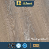 suelo laminado laminado de madera de madera del entarimado V-Grooved del roble de 12.3m m