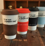 Tazza di caffè di pubblicità di ceramica del regalo della tazza di Doppio-Strato