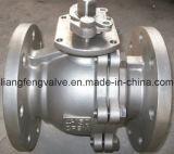 Robinet à tournant sphérique d'extrémité de bride de norme ANSI avec l'acier inoxydable