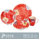 Conjunto de cena pintado a mano, vajilla de cerámica chino, vajilla de cerámica