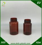conteneur en plastique de pillule de l'animal familier 150ml ambre