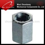 Noix d'acier inoxydable de DIN6334 A2-70 A4-80 longue