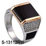 Nuovi commercio all'ingrosso d'argento della fabbrica degli anelli degli uomini dei monili di disegno 925