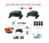 Aufnahme-System CCTV-DVR, 4CH HDD verdoppeln Ableiter-Karten, Support 3G/4G, GPS und Wi-FI