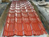 El panel de acero de la azotea del color/hoja prepintada de la azotea del color