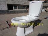 3#-2はまたは衛生製品の二つの部分から成ったWashdwonの陶磁器の浴室の洗面所分かれる