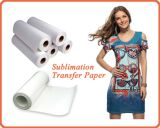 70/75/80GSM ayunan rodillo seco del papel de traspaso térmico de la sublimación pequeño para la ropa modificada para requisitos particulares