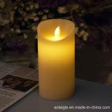 Желтые непламенные свечки корабля Chirstmas двигая свечку воска пламени СИД