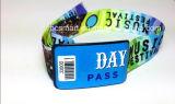 La identificación de la alta calidad NFC RFID de la fuente saltara las pulseras de los Wristbands de nylon/tejidas