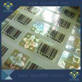 Etiqueta personalizada do holograma do número de série