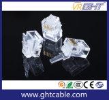 Gold-Plated Stecker des Netz-Kristall-Head/Rj12 Connectors/6p6c