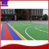 Het kleurrijke Aangepaste Openlucht Verwijderbare het Met elkaar verbinden Vloeren van Sporten