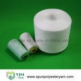 Poliester del hilo de coser en el cono de papel/plástico