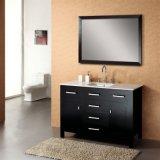 Gabinete de baño moderno de madera maciza