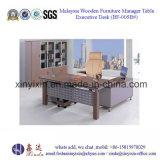 Tabella di legno malese dell'ufficio dei piedini del metallo di modo della mobilia (BF-007#)