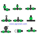 Adattatore piano di derivazione del tubo flessibile posto PVC per il nastro del gocciolamento di 16mm