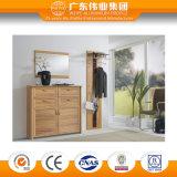 Governo di stanza da bagno di alluminio della superficie di legno del grano, mobilia della stanza da bagno
