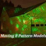 安く8パターンクリスマスの屋外の移動防水景色ライトレーザーのクリスマスの照明IP65の庭レーザー