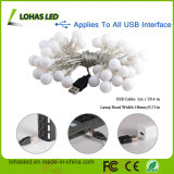 USB Fairy Starry Light 5V 16FT / 5m 2.5W 80lm 40 LED Globes Warm White LED String Light pour Décoration