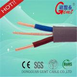 Câble plat échoué de cuivre de câble de Spt de câble de haut-parleur de Spt