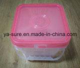 caixa 2L plástica quadrada transparente para a ferragem