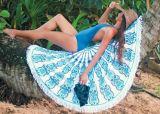 Tovagliolo di spiaggia rotondo del cerchio del cotone con di alta qualità