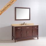 Шкаф тщеты ванной комнаты твердой древесины верхнего качества Fed-1831