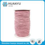 Corde personnalisée de polyester tissée par type élastique de couleur pour la décoration
