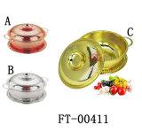 Colander золота нержавеющей стали 3 PCS с крышкой (FT-00411)
