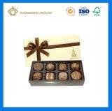 Золотистая причудливый бумажная Handmade коробка конфеты коробки подарка шоколада (твердая бумажная коробка)