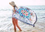 Toalla de playa redonda del círculo del algodón con de alta calidad