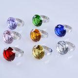 кольцо держателя салфетки диаманта 50mm желтое кристаллический для украшения