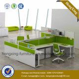나무로 되는 사무실 분할 2 시트 직원 테이블 워크 스테이션 (NS-NW014)