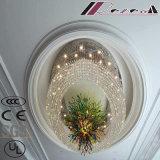 Grosse Größen-runder Luxus und Morden Kristallprojekt-Lampe für Hotel-Dekoration