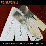 Escritura de la etiqueta de la ropa de la etiqueta de la ropa RFID de RFID para el sitio apropiado