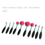 Fat Nana Wholesale Professional 10PCS Oval Brosse à dents Brosse Set Pink Kit Brosses de maquillage