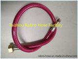 Aço inoxidável ou mangueira trançada flexível do metal do fio do alumínio coberta pelo silicone vermelho