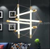 호텔 프로젝트 점화를 위한 현대 새로운 디자인 금 관 LED 펀던트 빛